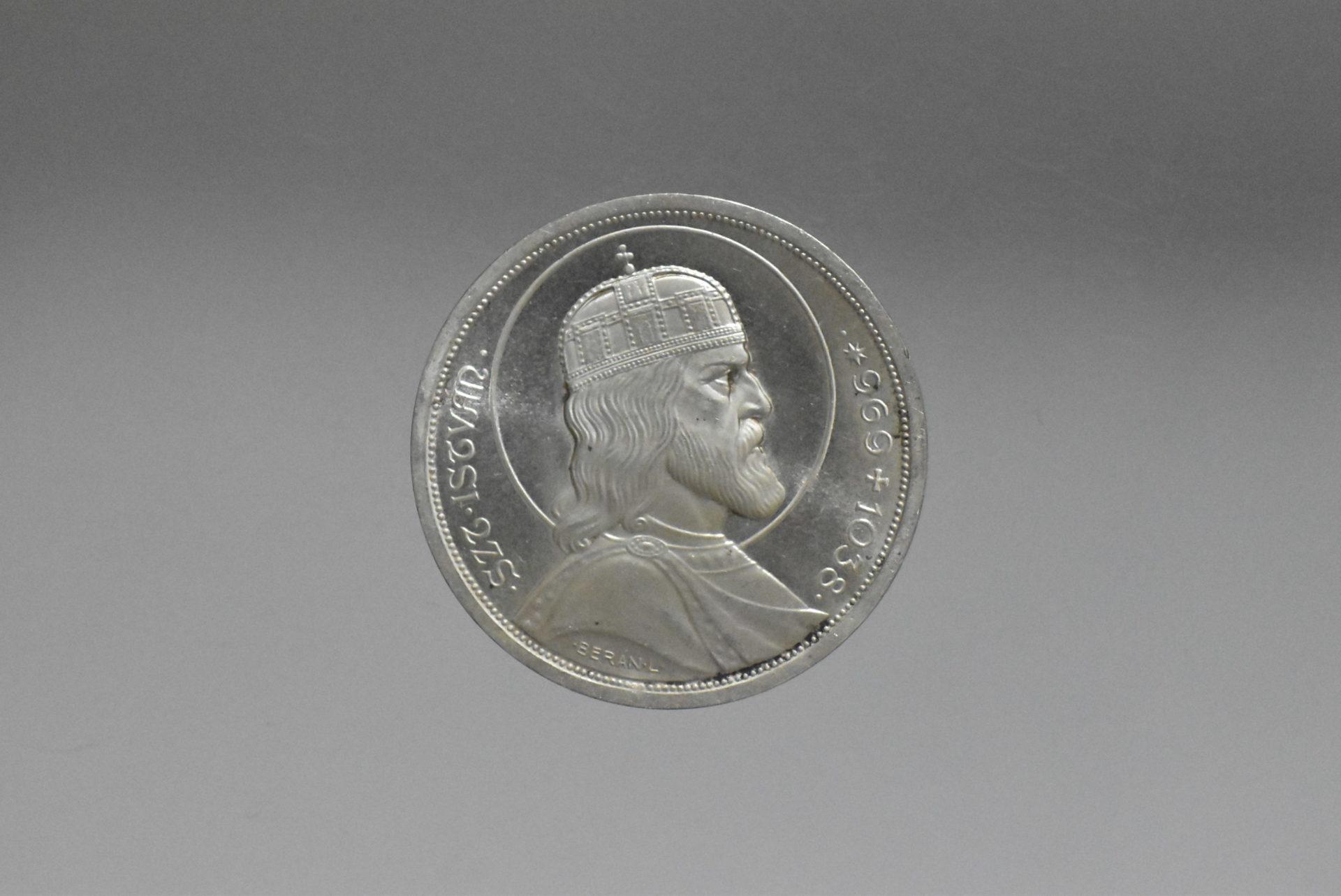 1938 Szent István ezüst 5 pengő (UNC)