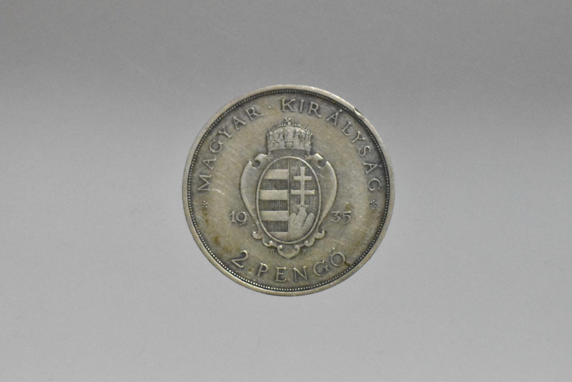 1936 Pázmány ezüst 2 pengő